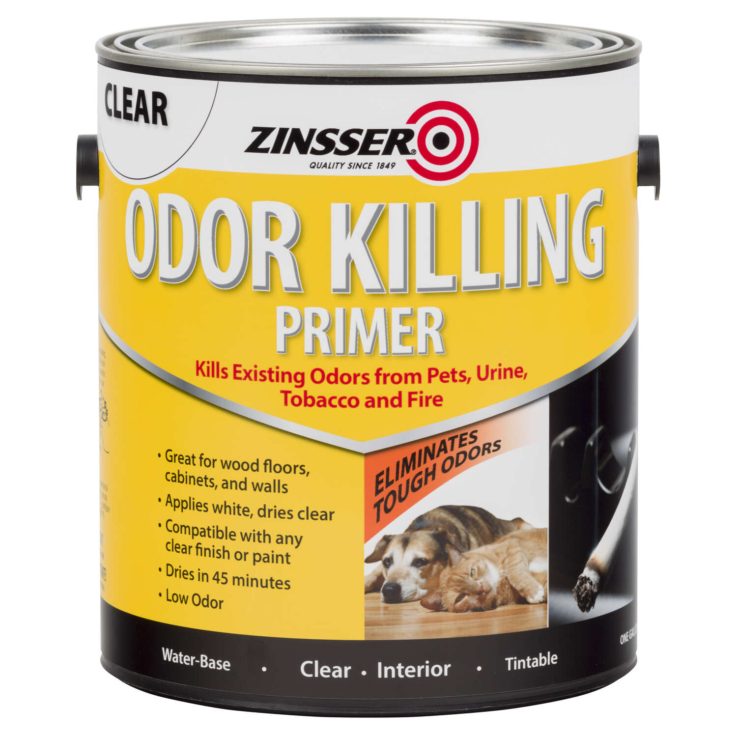 Zinsser  Clear  Water-Based  Acrylic  Odor Killing Primer  1 gal.