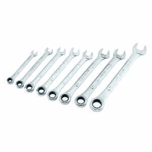 Craftsman  Metric  Ratcheting Wrench Set  Steel  8 pc.