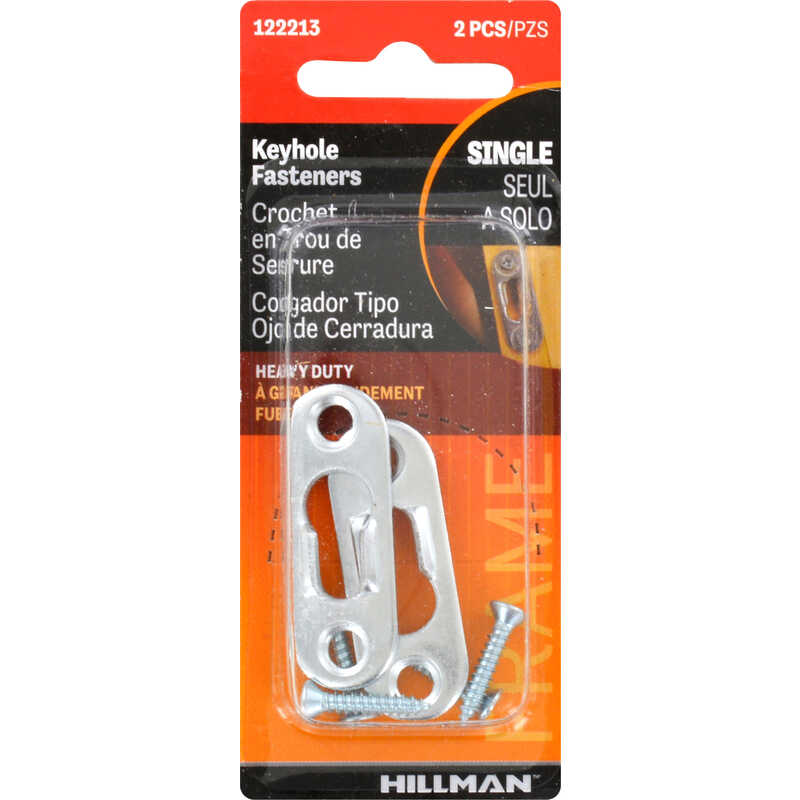 HILLMAN  AnchorWire  Steel-Plated  Keyhole  Picture Hanger  20 lb. 2 pk Steel