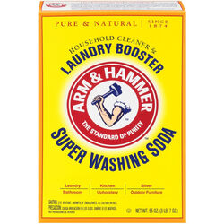Arm & Hammer  No Scent Detergent Booster and Household Cleaner  Powder  55 oz. 1 pk