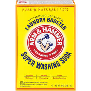 Arm & Hammer  No Scent Detergent Booster and Household Cleaner  Powder  55 oz.