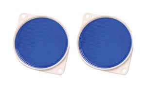 Hy-Ko  8.75 in. Round  Blue  Reflectors  2 pk