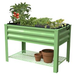 Panacea Products  32 in. H x 46 in. W x 24 in. D Steel  Raised Garden Bed  Green