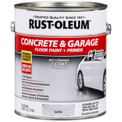 Rust-Oleum Satin Armor Gray Acrylic Concrete & Garage Floor Paint 1 gal.