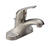 Delta  Foundation  Stainless Steel  Single Handle  Lavatory Pop-Up Faucet  4 in.