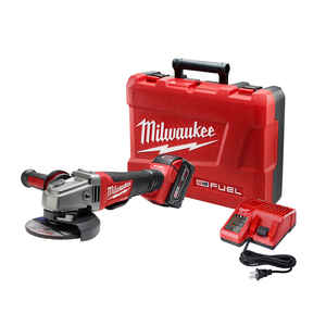Milwaukee  M18 FUEL  Cordless  18 volt 4-1/2 to 5 in. Angle Grinder  Kit  Paddle  8500 rpm