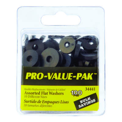 Danco  0.00 in. Dia. Rubber  Assorted Washer  100 pk