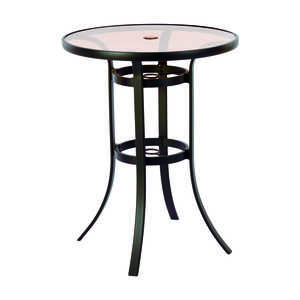 Living Accents  Balcony  Brown  Heritage  Table  Round