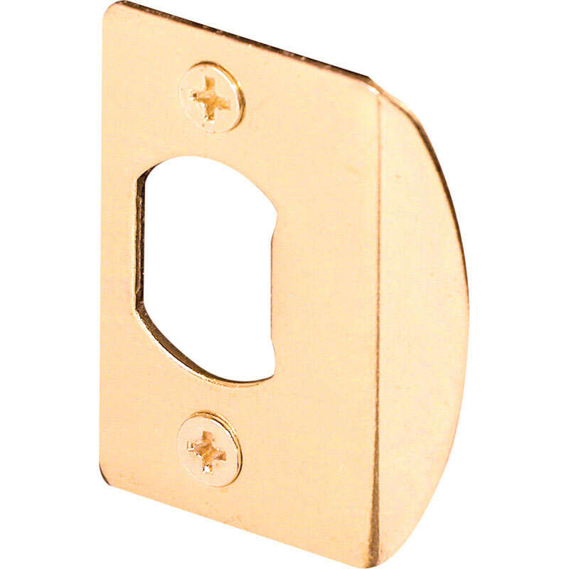 Prime-Line 2.25 in. H x 1-5/8 in. L Brass-Plated Steel Latch Strike Plate