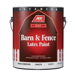 Ace Flat Ranch Brown Barn and Fence Paint Exterior 1 gal.