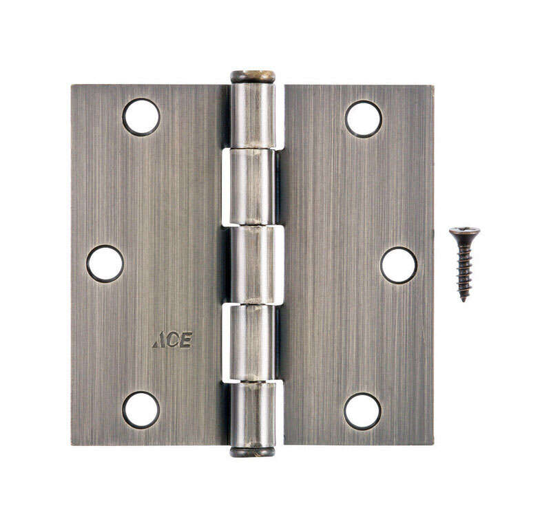 Ace  3-1/2 in. L Antique Brass  Steel  Residential Door Hinge  1 pk