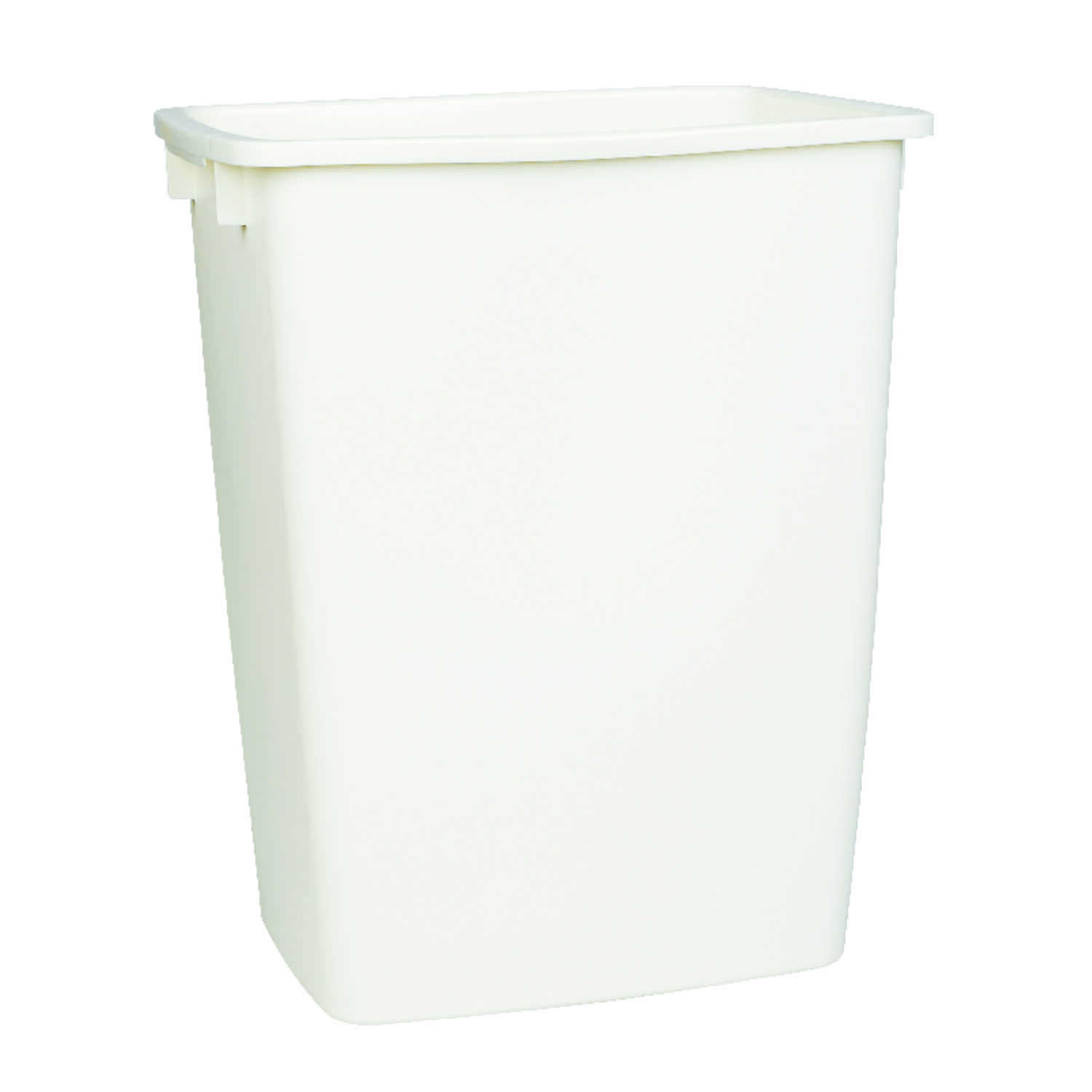 Rubbermaid  9 gal. Bisque  Open Top  Wastebasket