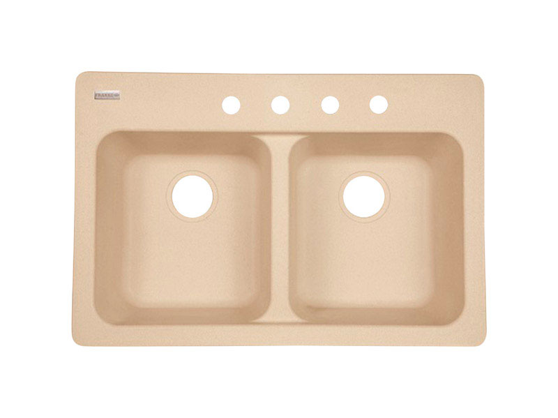 Kindred  Tectonite  Dual Mount  33 in. W x 22 in. L Kitchen Sink  Sand