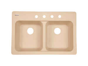 Kindred  Tectonite  Dual Mount  33 in. W x 22 in. L Kitchen Sink