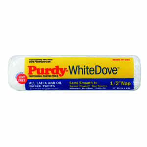 Purdy  White Dove  Dralon  1/2 in.  x 9 in. W Paint Roller Cover  1 pk