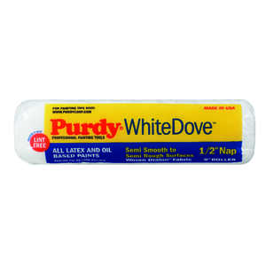 Purdy  White Dove  Dralon  1/2 in.  x 9 in. W Paint Roller Cover  1 pk For Semi-Smooth Surfaces