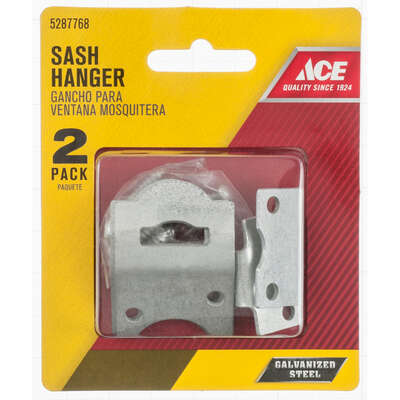 Ace  Galvanized  Silver  Steel  Screen/Storm Sash Hanger  2 pk