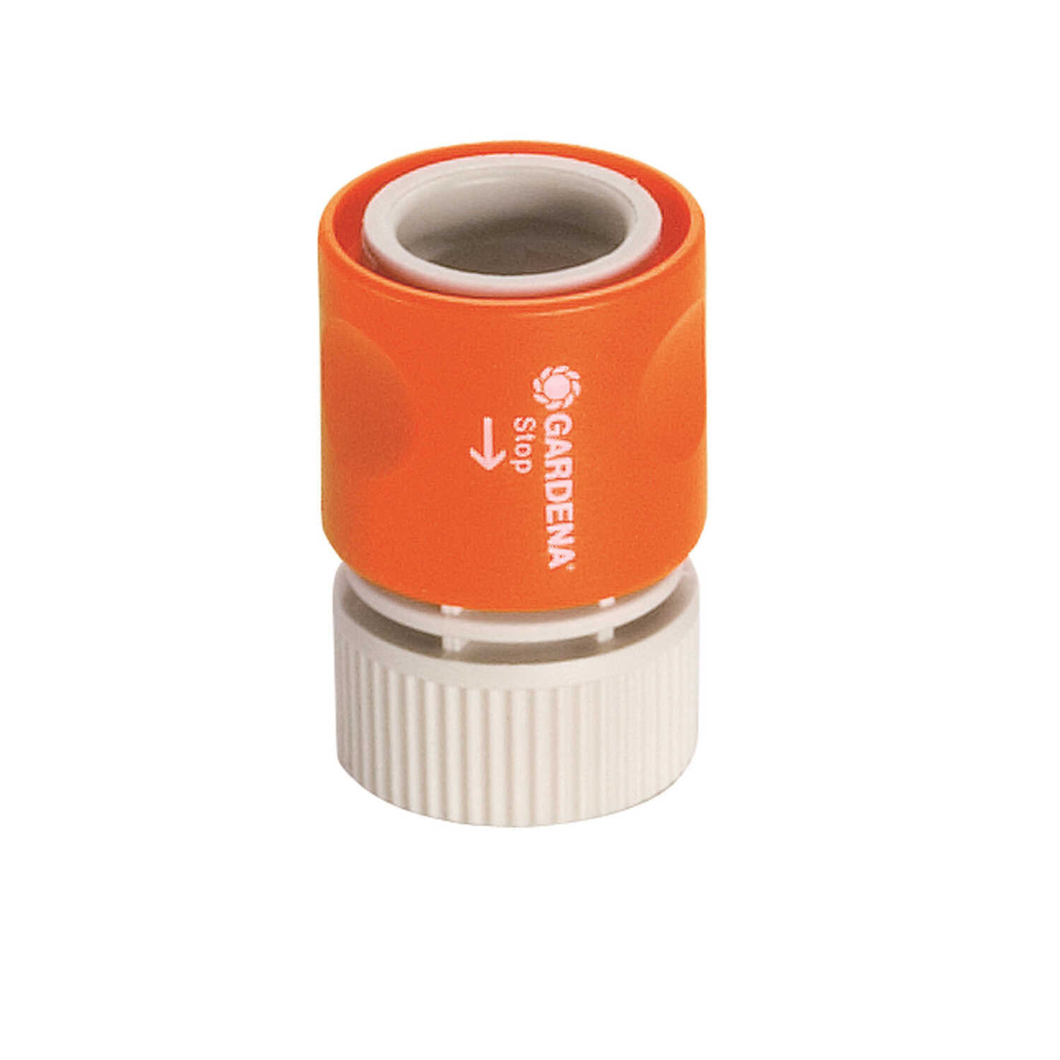 Gardena  5/8 & 1/2 in. Nylon/ABS  Threaded  Male  Hose Connector with Water Stop