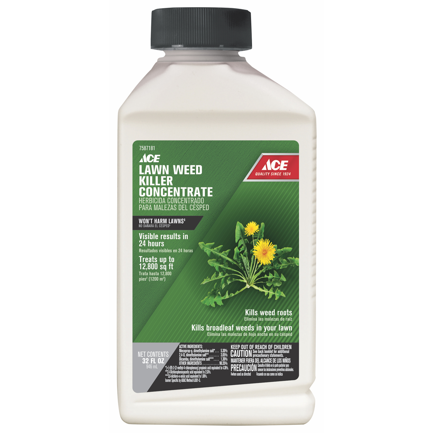 Ace  Concentrate  Lawn Weed Killer  32 oz.