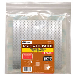 Allway 6 in. L x 6 in. W Fiberglass White Self Adhesive Drywall Mesh Patch