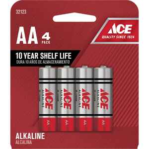 Ace  AA  Alkaline  Batteries  4 pk Carded