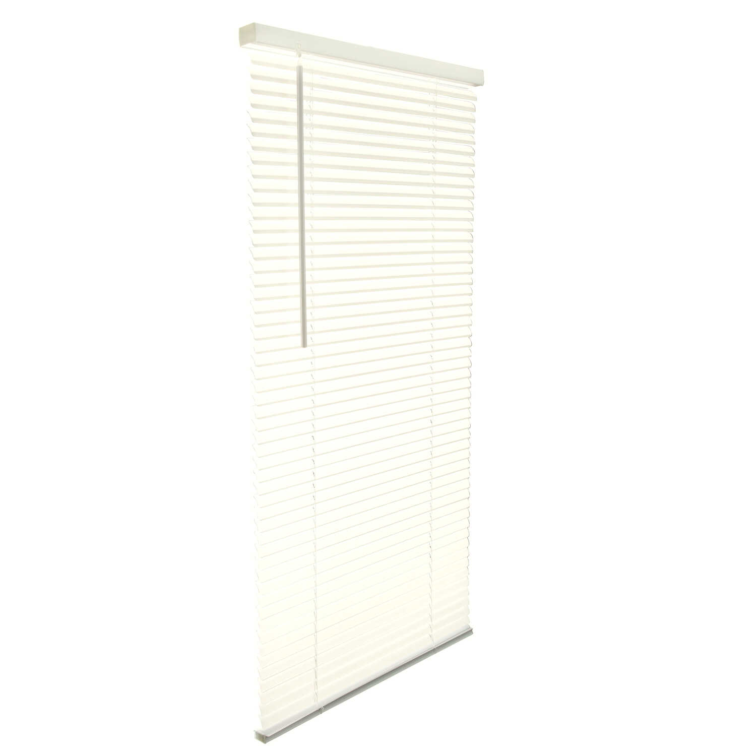 Living Accents  Vinyl  1 in. Mini-Blinds  63 in. W x 64 in. H Alabaster  Cordless