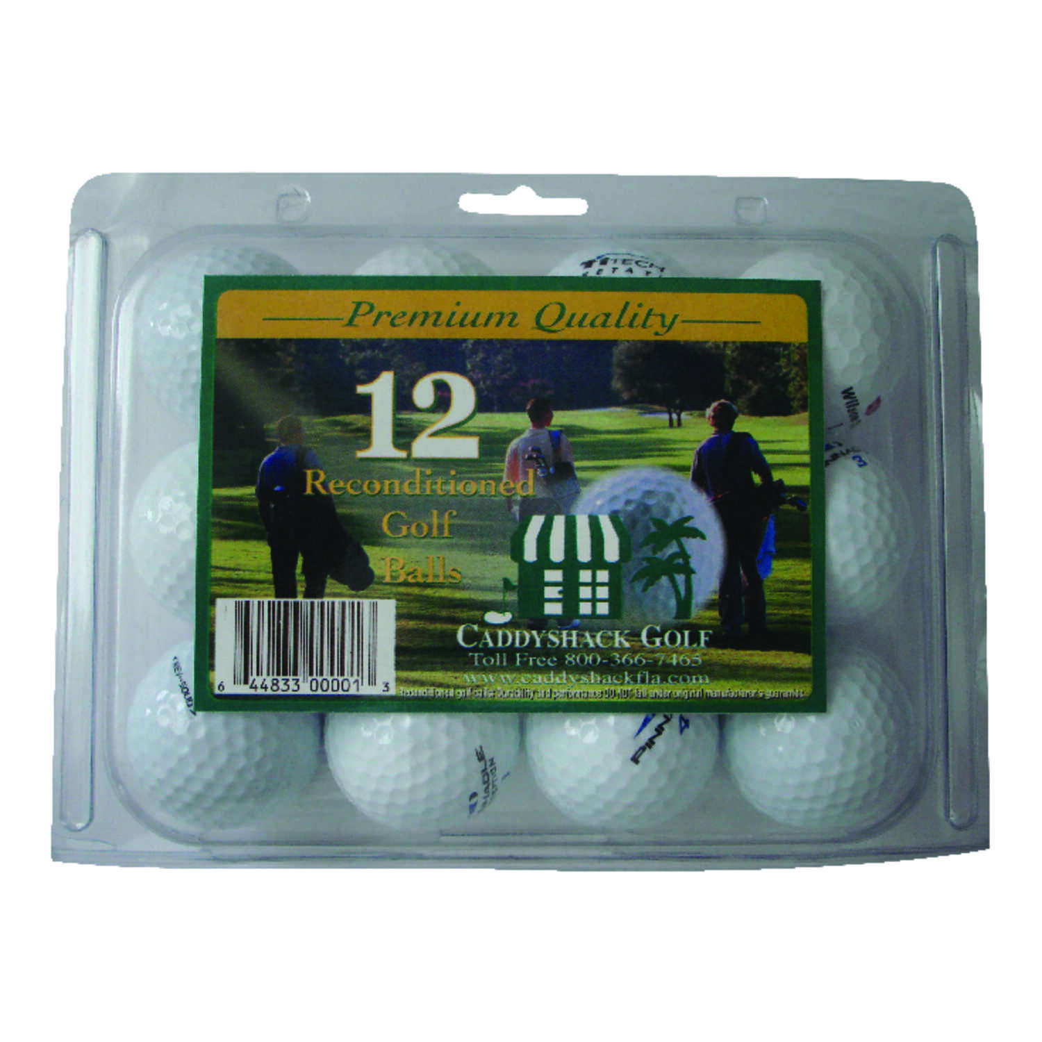 Caddy Shack Golf  TiTech Reconditioned  1.375  Golf Balls
