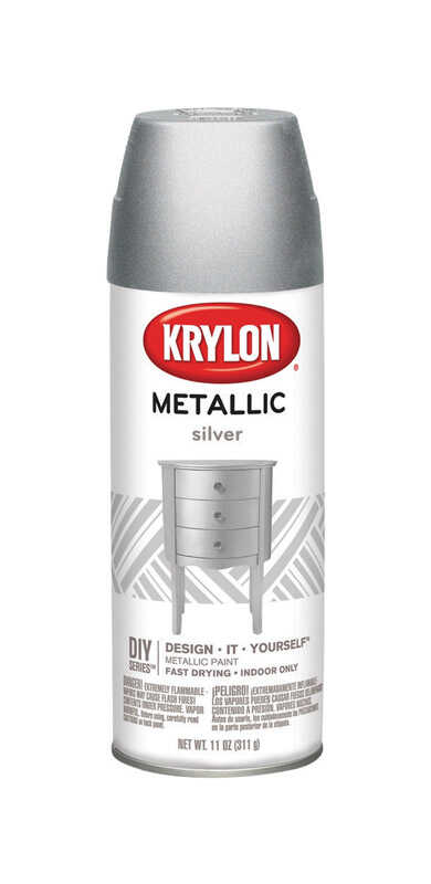 Krylon  Brilliant  Silver  Metallic Spray Paint  11 oz.