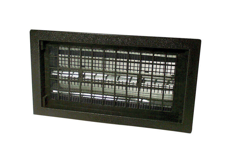 Air Vent  9.5 in. H x 17.1 in. W Black  Plastic  Automatic Foundation Vent