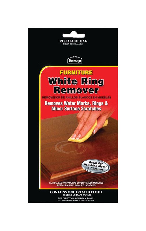 Homax  No Scent White Ring Remover  1 pk Wipes