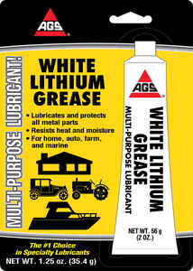 AGS  White Lithium  Grease  1.25 oz. Carded