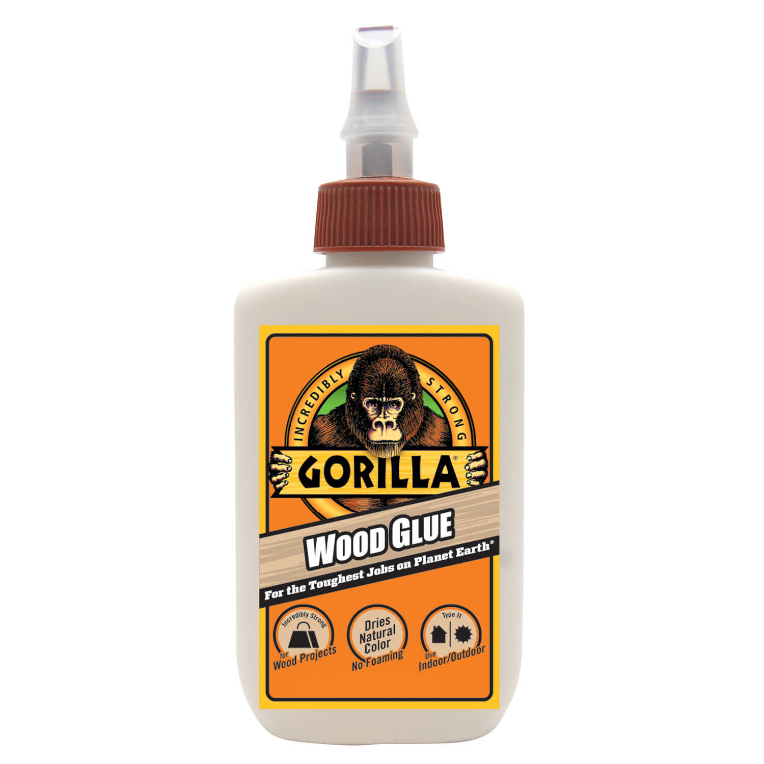 Gorilla  Light Tan  Wood Glue  4 oz.