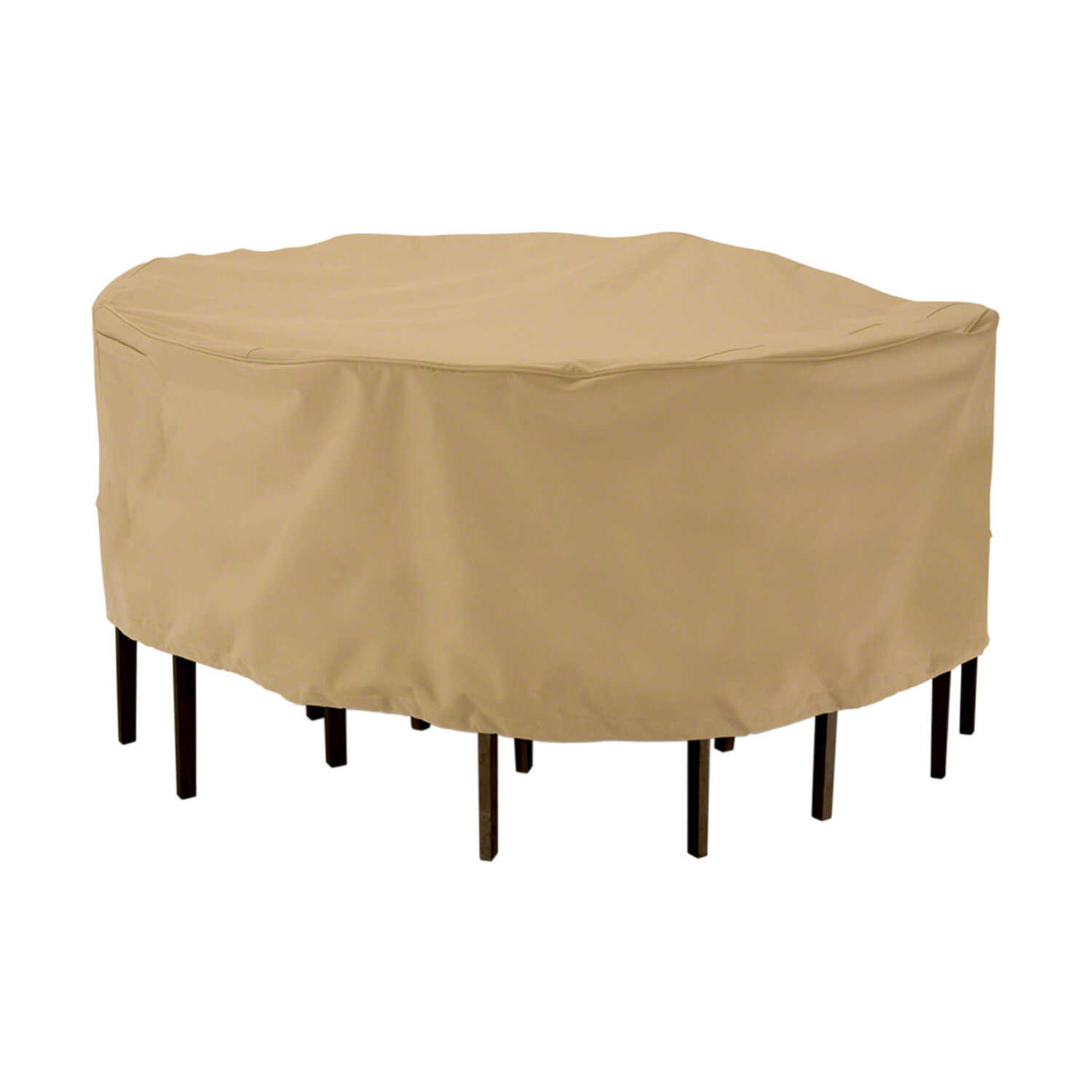 Classic Accessories  23 in. H x 94 in. W Brown  Polyester  Dining Set Cover