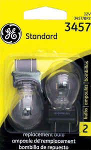 GE Lighting  13/14 volt Automotive Bulb  3457/BP2  1 pk