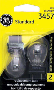 GE Automotive Bulb S-Shaped 3457/BP2 For Rear & Front Turn Signal, Cornering, High Mount Stop Licens
