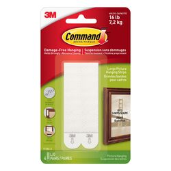 3M  Command  White  Foam  Picture Hanging Strips  8 pk 16 lb.