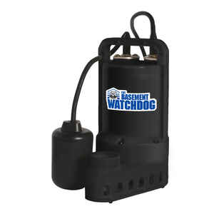 Basement Watchdog  1/3 hp 3700 gph Plastic  Submersible Sump Pump