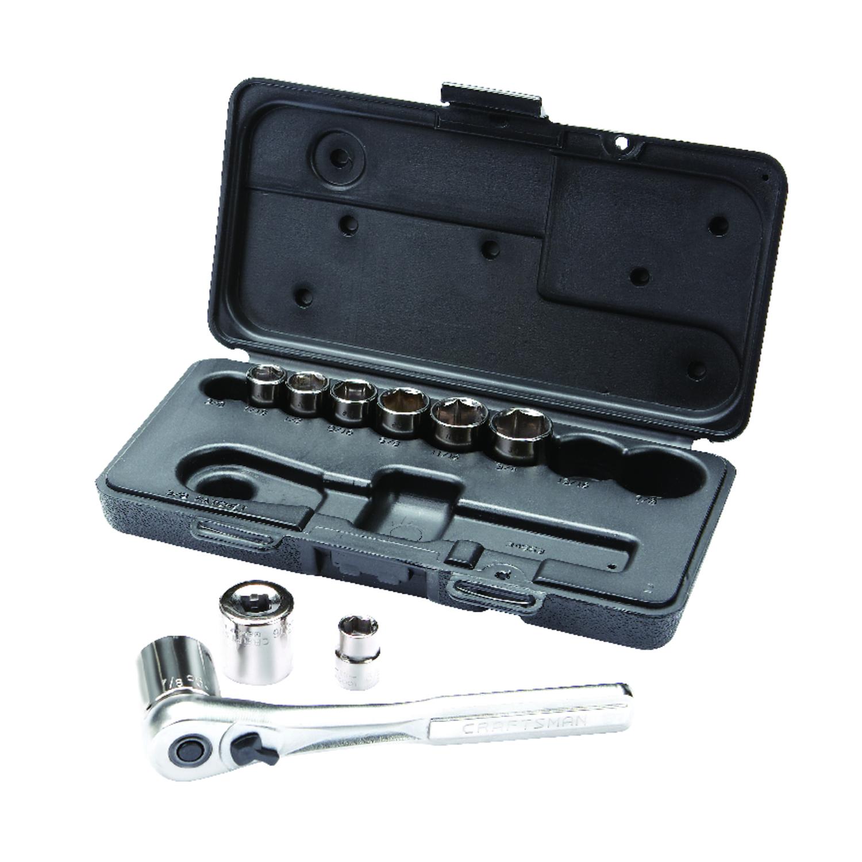 Craftsman 3 8 In X 1 4 Drive Sae 6 Point Mechanics Tool Set Fuel Pump Diagram 168 Pc Ace Hardware