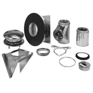 Selkirk  6 in. Stainless Steel  Stove Pipe Wall Support Kit