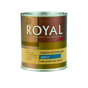 Ace  Royal  Satin  White  Acrylic Latex  Satin  1 qt. Porch & Floor Paint