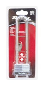 Master Lock  1-1/8 in. H x 1-1/32 in. W x 1-3/4 in. L Steel  Warded Locking  Padlock  1 pk