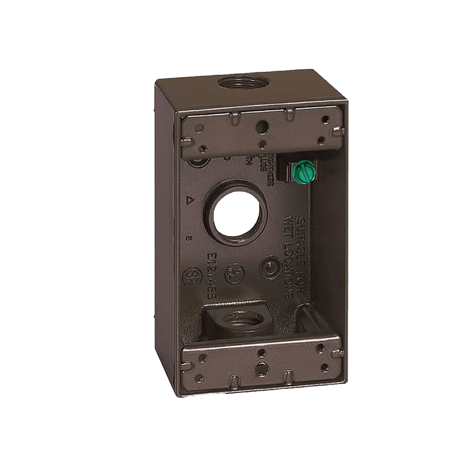 Sigma  4-1/2 in. Rectangle  1 Gang  Aluminum  Outlet Box  Bronze