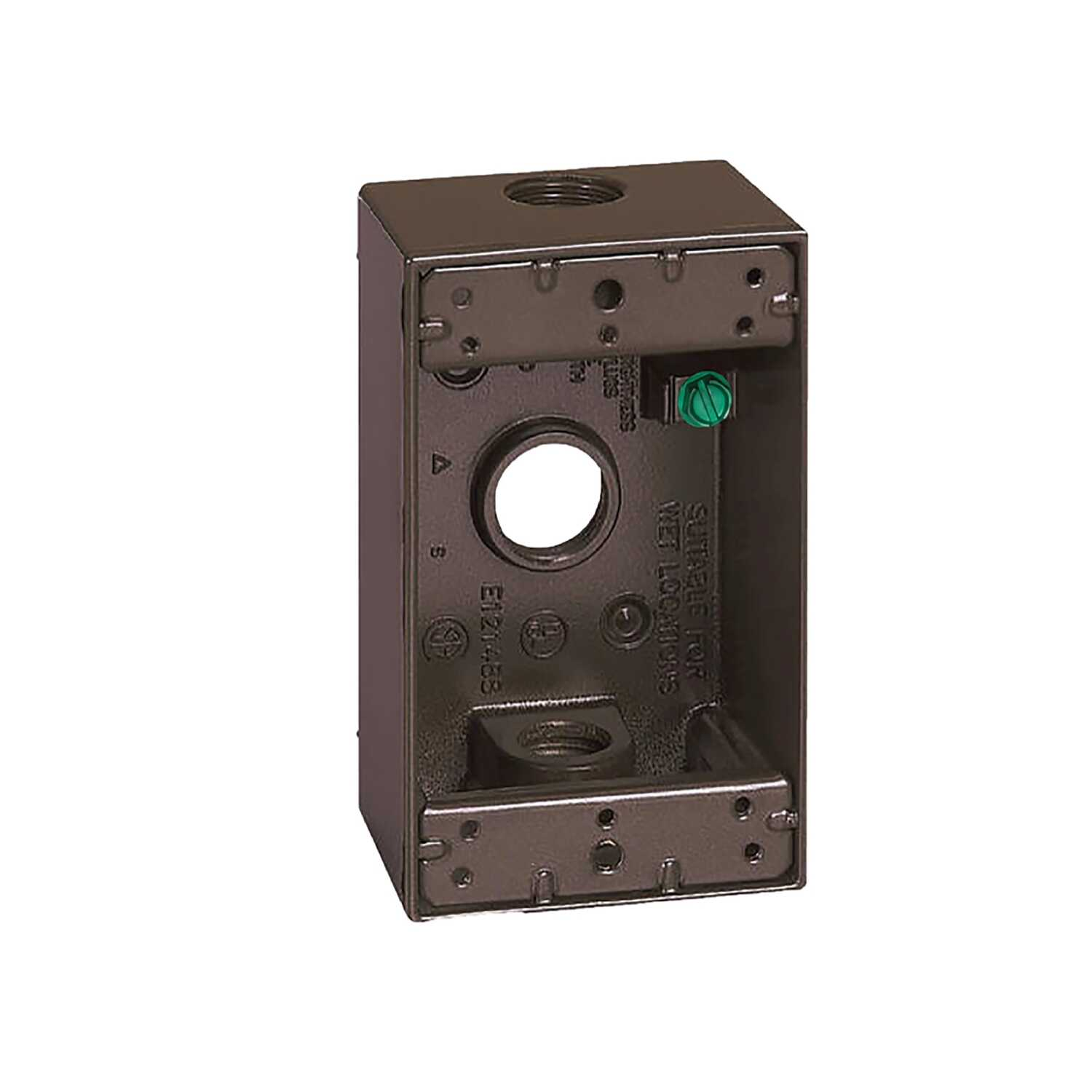 Sigma  Rectangle  1 Gang  1 gang 4-1/2 in. Outlet Box  Aluminum  Bronze