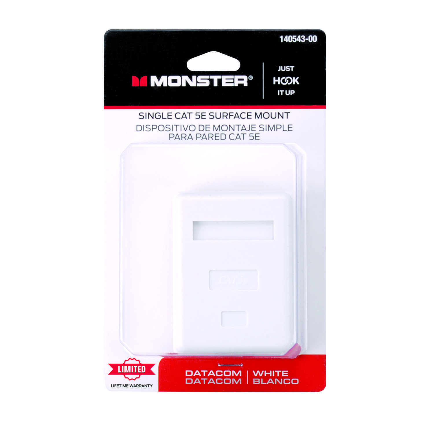 Monster Cable  Surface Mount Housing  CAT 5E  Just Hook It Up