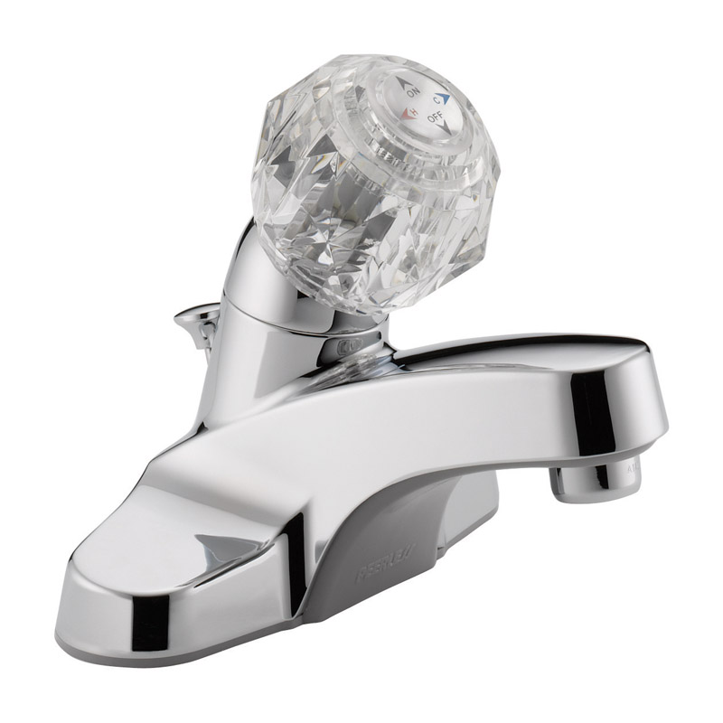 Peerless  Washerless  Single Handle  Lavatory Faucet  4 in. Chrome