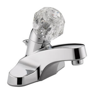 Peerless  Core  Chrome  Single Handle  Lavatory Faucet  4 in.