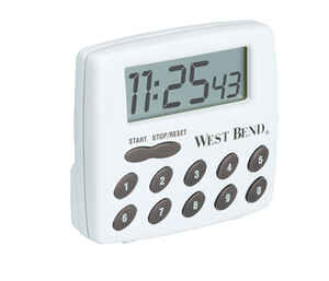 West Bend  Digital  Plastic  2-Function Timer