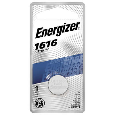 Energizer  Lithium  1616  3 volt Keyless Entry Battery  1 pk