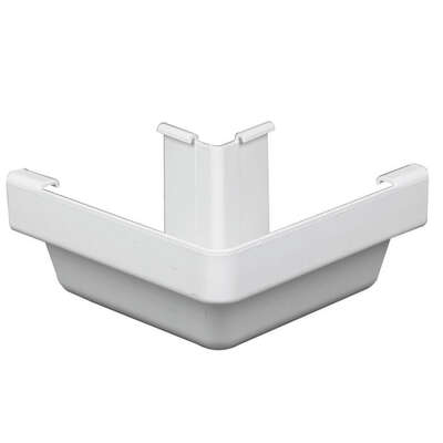 Amerimax  3.25 in. H x 6.25 in. W x 6.25 in. L White  Vinyl  Outside Corner