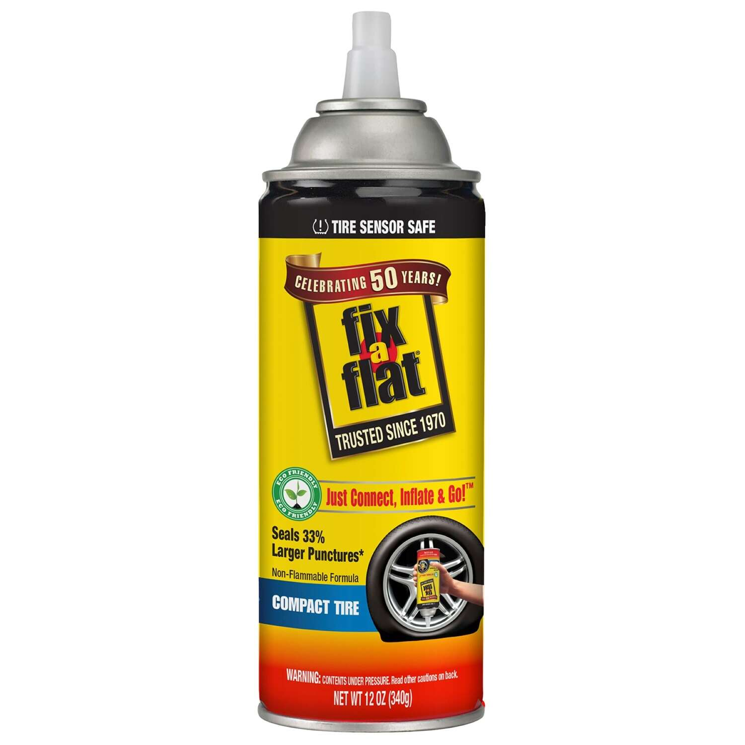 Fix-a-Flat  Compact Tire  Inflator and Sealer  12 oz.